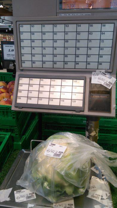 イタリアの野菜用バーコードシール機