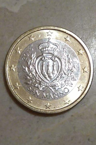 サンマリノ共和国のデザインの入ったユーロコイン