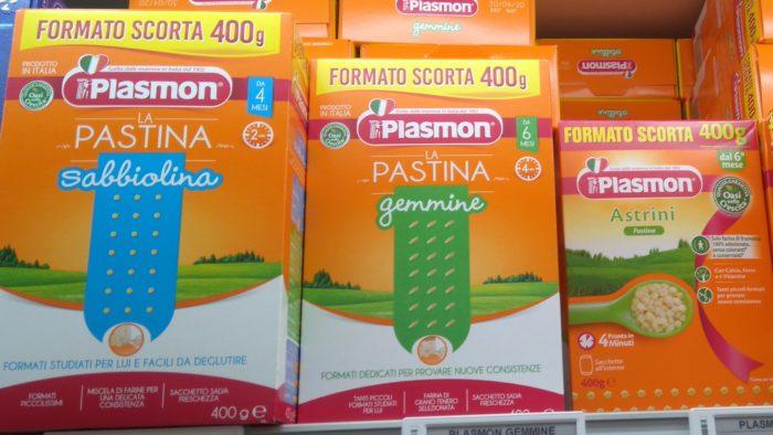 イタリアで売られている赤ちゃん用のパスタ