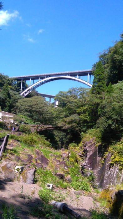 高千穂峡から見える2つの橋