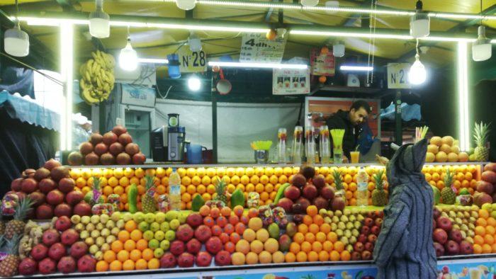 マラケシュのフルーツジュース屋